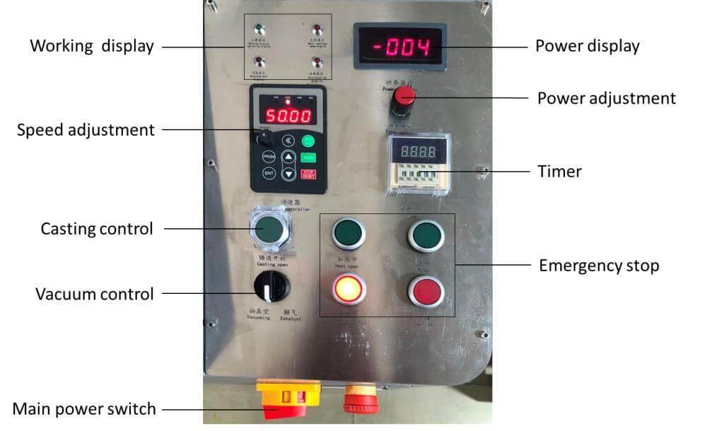 Centrifugal platinum Vacuum casting machine