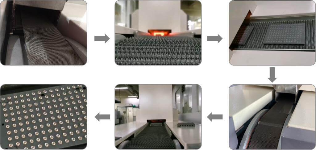 mesh belt heat treatment furnace cdocast