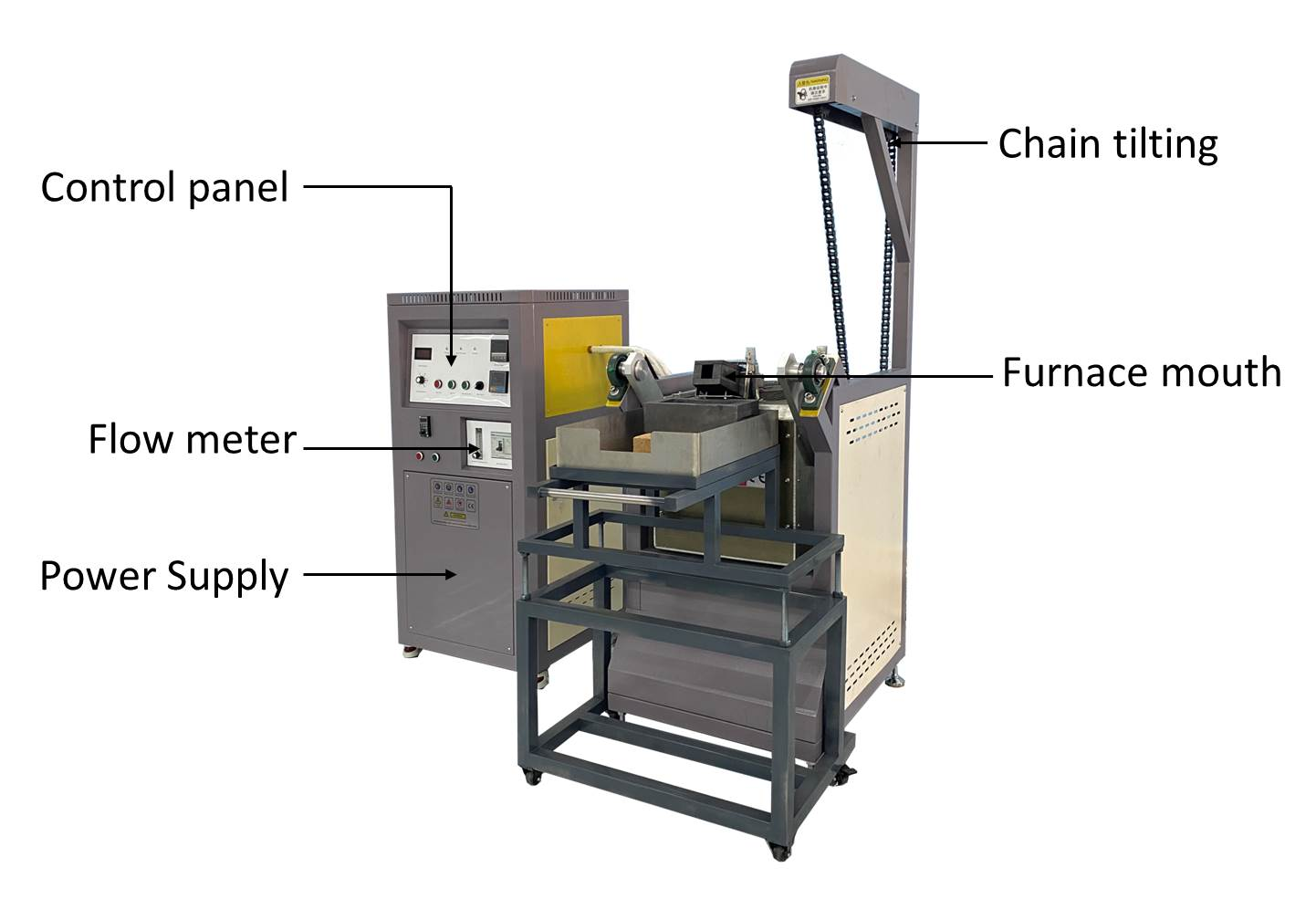 chain motor tilting melting machine details
