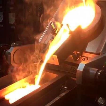 Chain Tilting Silver Melting Furnace
