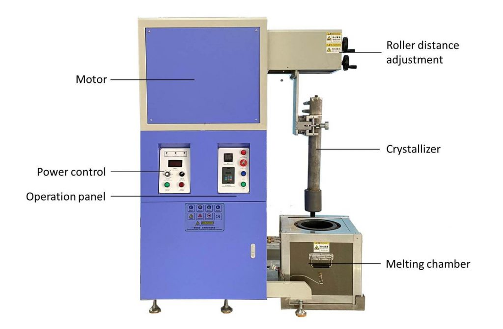 upward continuous casting furnace