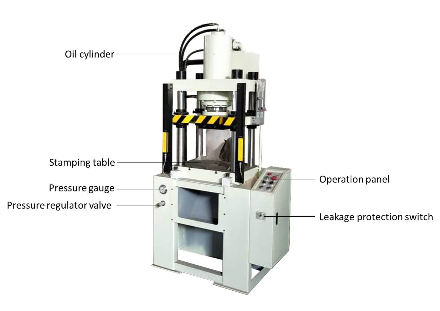 hydraulic punch machine detail