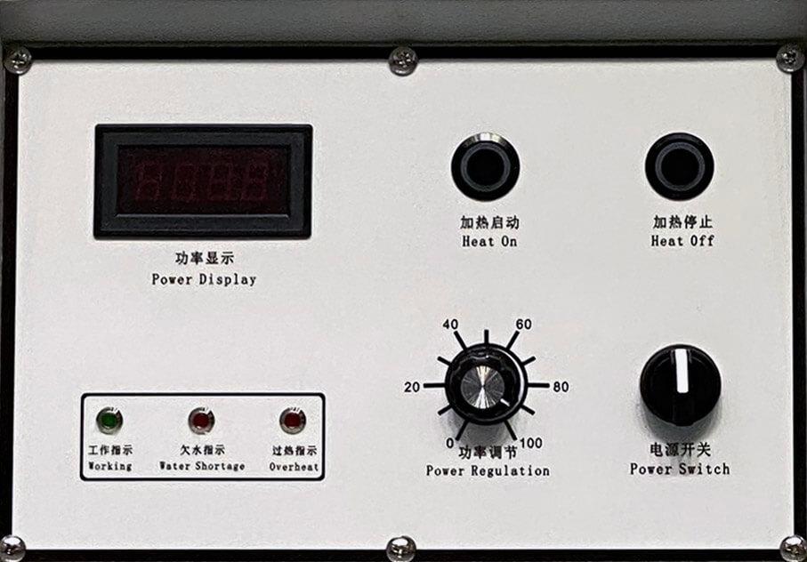 Graphite crucible control panel