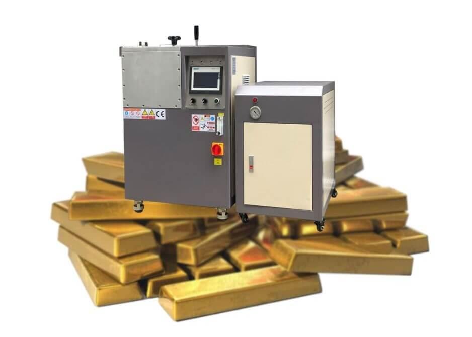 How to Make high quality Gold Bar & Bullion -Vacuum gold bar casting machine
