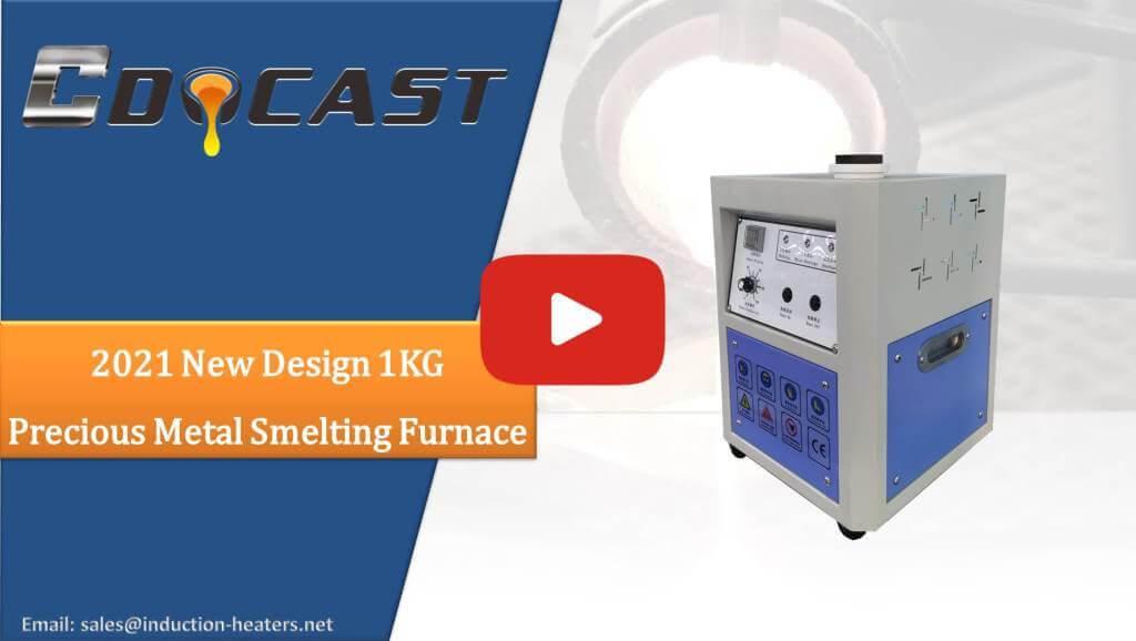 2021 New design 1KG precious metal smelting furnace