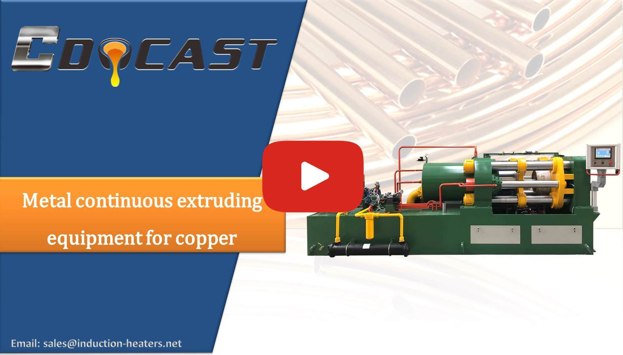 Metal continuous extruding equipment for copper