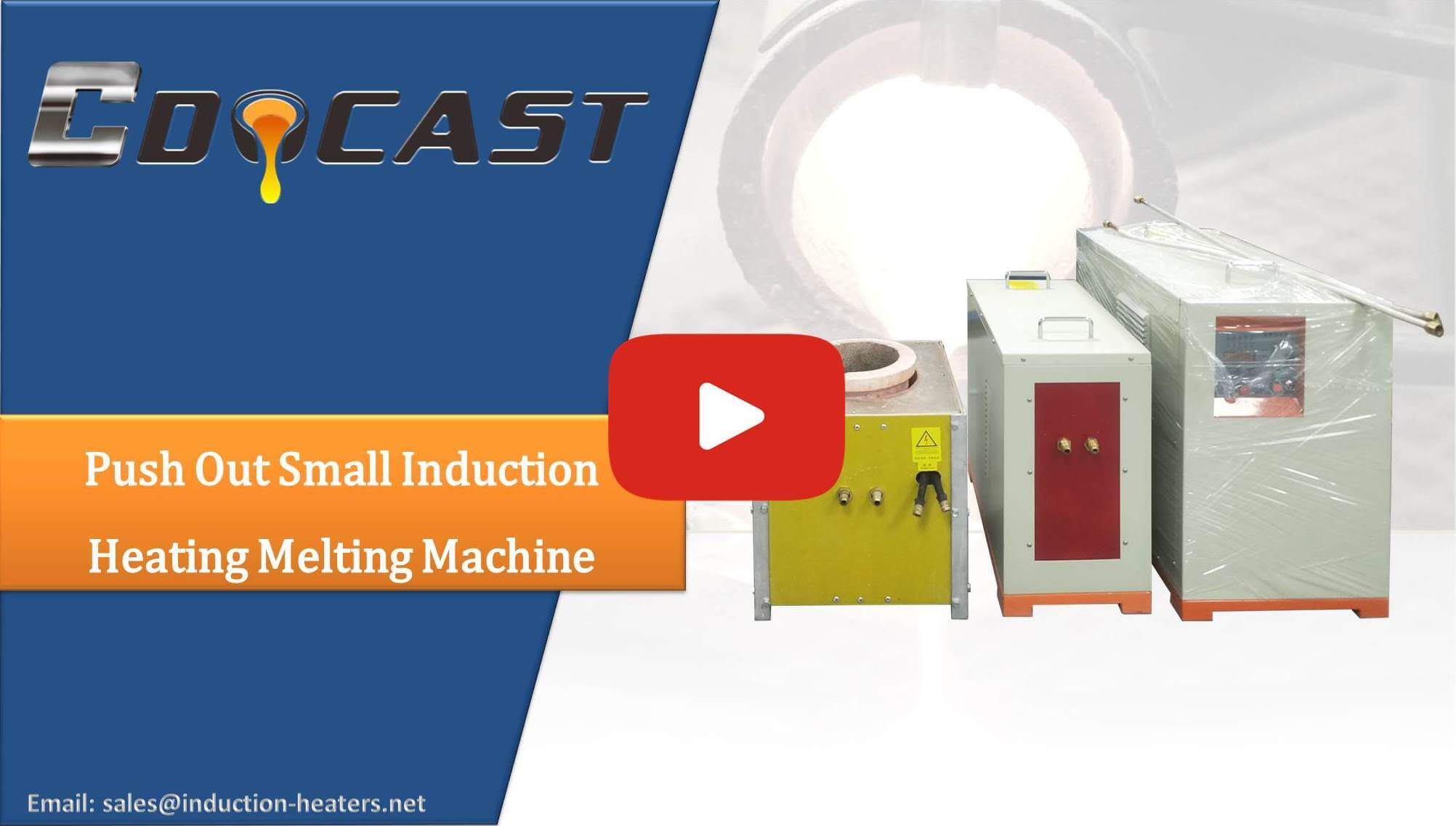 Push Out Small Induction Heating Melting Machine
