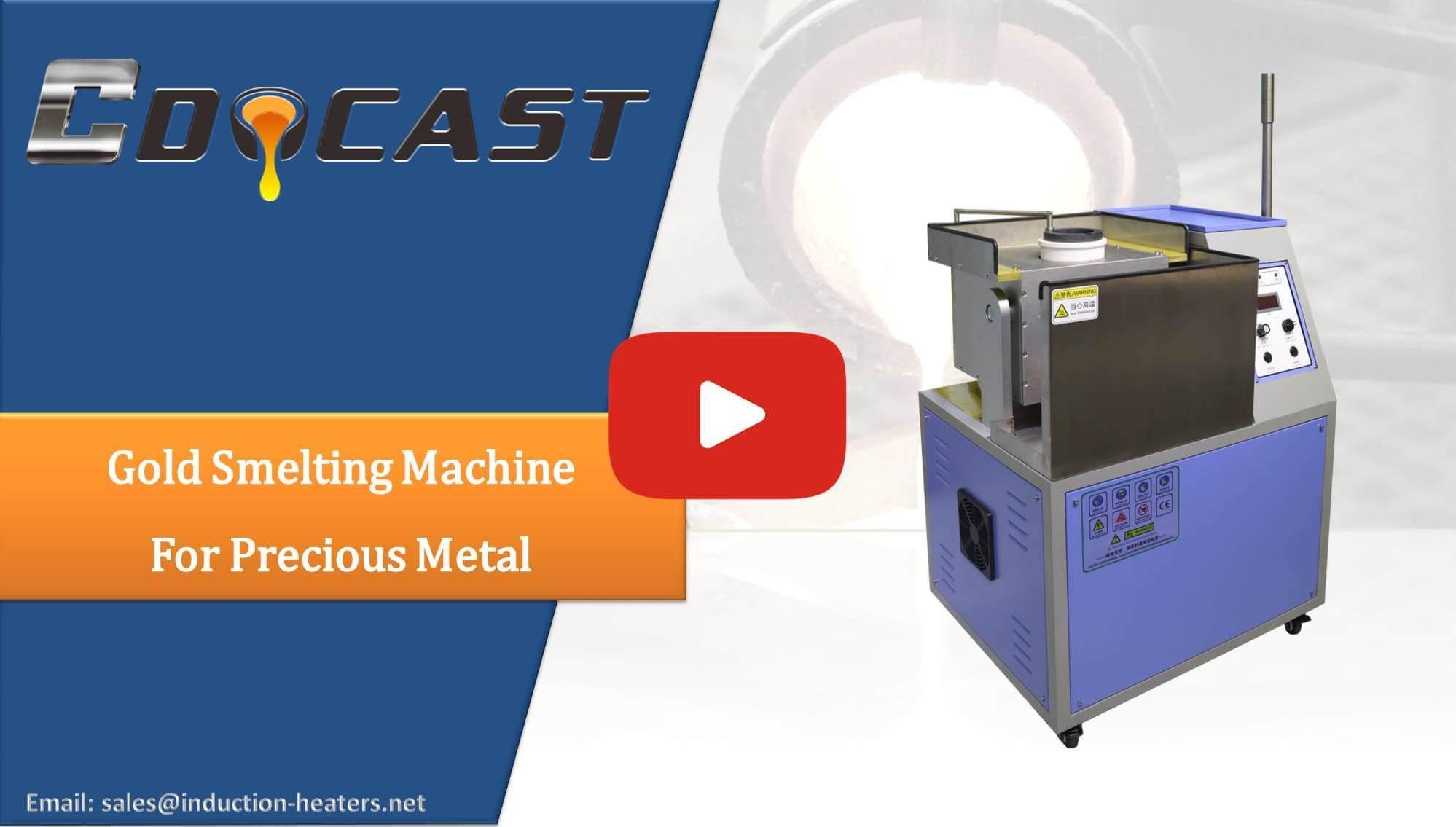 gold smelting machine for precious metal